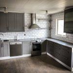 Lackering av köksluckor i grått | Västkust Lackering